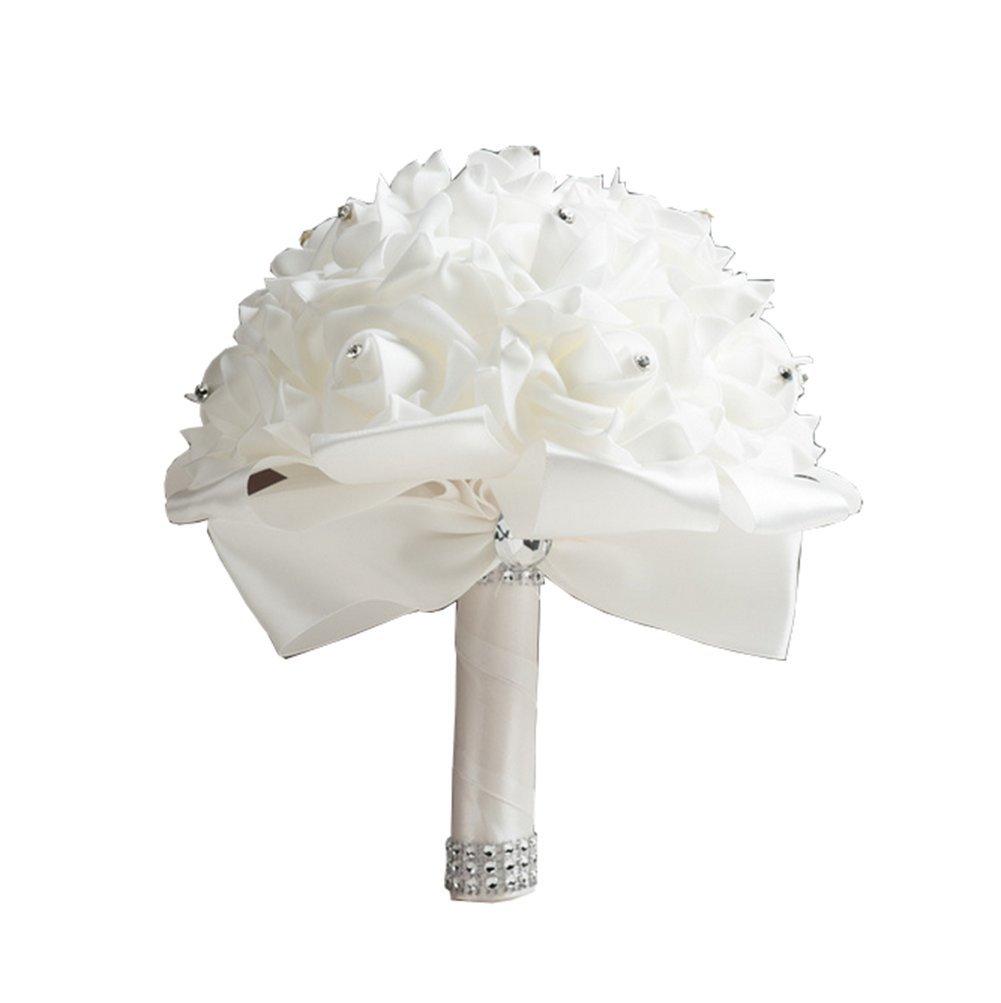 Hosaire Bouquet de Mariage Fleurs Artificielles Rose en d/écoration pour Mariage Maison F/ête Soir/ée et Grandes banquet