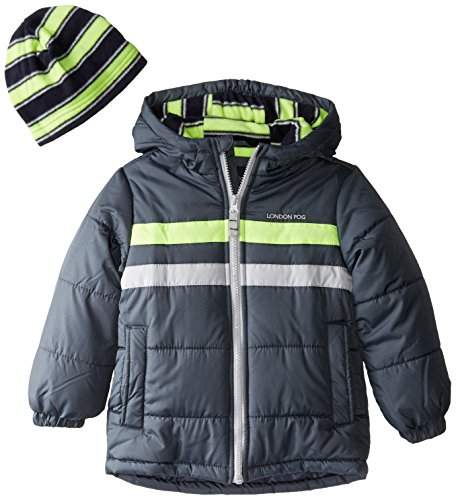 Coat Hat Chest Stripe Gray with London Sneaker Puffer Fog Boys pWvBW0RX