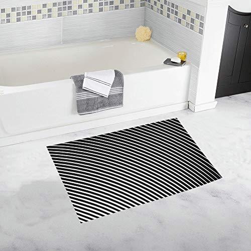 (Halftone Radial Striped Custom Non-Slip Bath Mat Rug Bath Doormat Floor Rug for Bathroom 20 X 32 Inch)