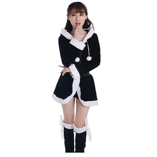 Amazon Com Iybuia Christmas Party Cosplay Ladies Santa Costume