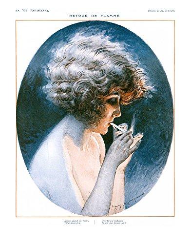 La Vie Parisienne: Girl w/Cigarette - Millere - 1936 - 16 x 20 inches