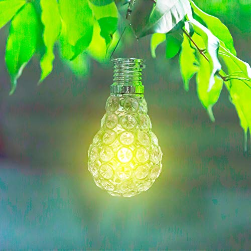 DDLmax Led Solar Light Bulbs, Outdoor Solar Garden Camping Lights, Waterproof Beaded Hanging Bulbs