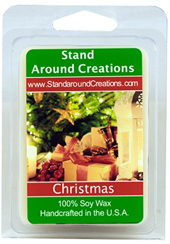 100% All Natural Soy Wax Melt Tart - Christmas: Christmas combines orange spice notes from the kitchen, fir and pine notes from the Christmas tree, and an earthy smokiness from the fireplace. This fra