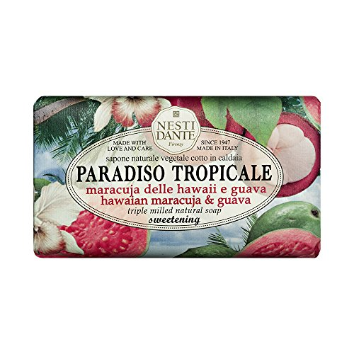 Sabonete Barra Paradiso Tropicale Maracujá do Hawaii e Goiaba, Nesti Dante, Natural, Nesti
