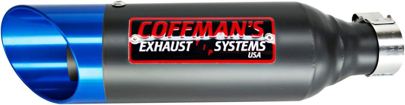 Coffmans Shorty Slip On Exhaust Muffler for Kawasaki Ninja 300 2013-2017 Sportbike with Blue Tip
