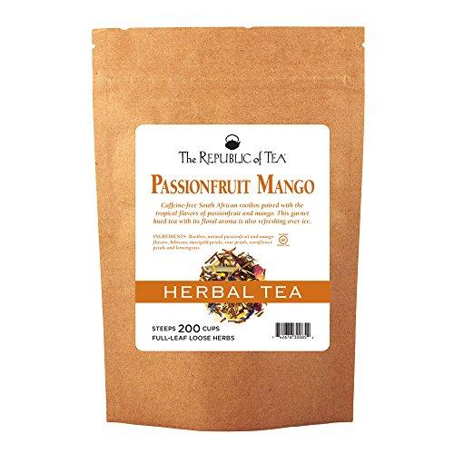 Mango Red Tea Tea - The Republic Of Tea Passionfruit Mango Red Full-Leaf Tea, 1 Pound / 200 Cups