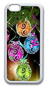 Colorful Christmas balls Custom iPhone 6 4.7 inch Case Cover TPU White