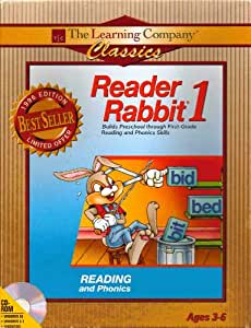 Reader Rabbit 1 (Reading and Phonics) 1996 Edition Ages 3-6