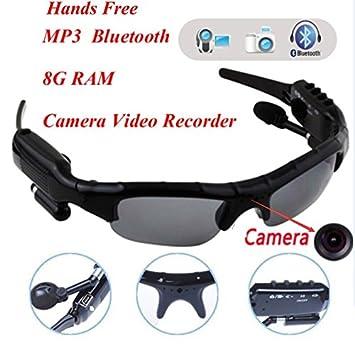1e4b72e77dd4 New Sport Wireless Bluetooth Camera Eyewear Sunglasses with 8G RAM Video  Recorder DVR DV Camcorder