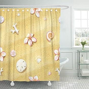 Amazon Com Tompop Shower Curtain Pink Pattern Sand