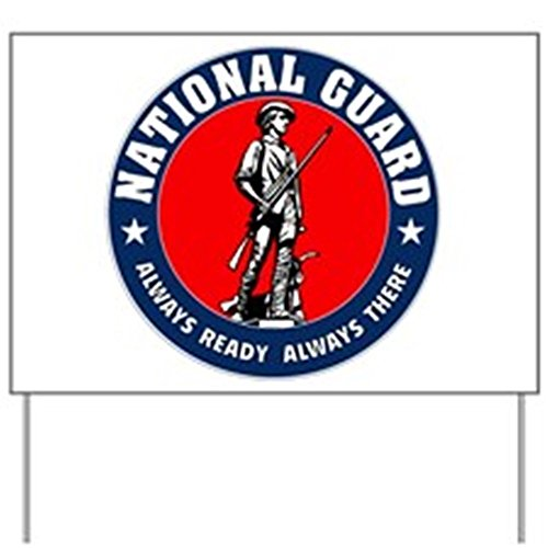 CafePress - National Guard Logo round Yard Sign - Yard Sign, Vinyl Lawn Sign, Political Election Sign