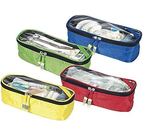 Elite Bags, Set de compartimentos de colores, Estuches de colores, 4 unidades, Azul, rojo verde y amarillo: Amazon.es: Salud y cuidado personal