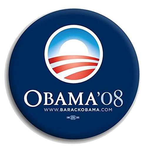 Gift Warehouse Official Obama Standard Blue Campaign Pin - Button