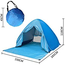 Outdoor 2-3 Persons Sun Shelter, Portable Pop Up Instant Cabana Canopy Anti-UV Sun Shade for Camping Fishing Picnic Beach Lake Park