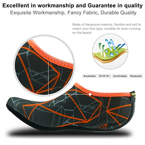 Home Gray Barefoot Orange Socks Aqua Shoes Skin Swim Neoprene Yoga Beach Printed For Pool Water Snorkeling Slipper Surf SSqwRUr