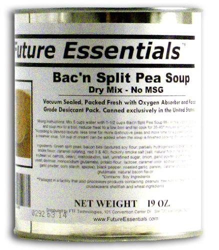 1 Can of Future Essentials Canned Bacon Split Pea Soup Dr...