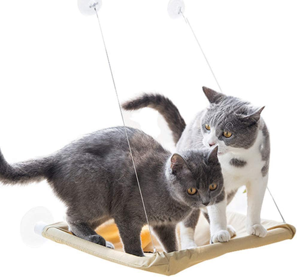 Tenrry Cats Hammock Suction Window Wall Mounted Hanging Bed Kitten Resting Sunny Seat