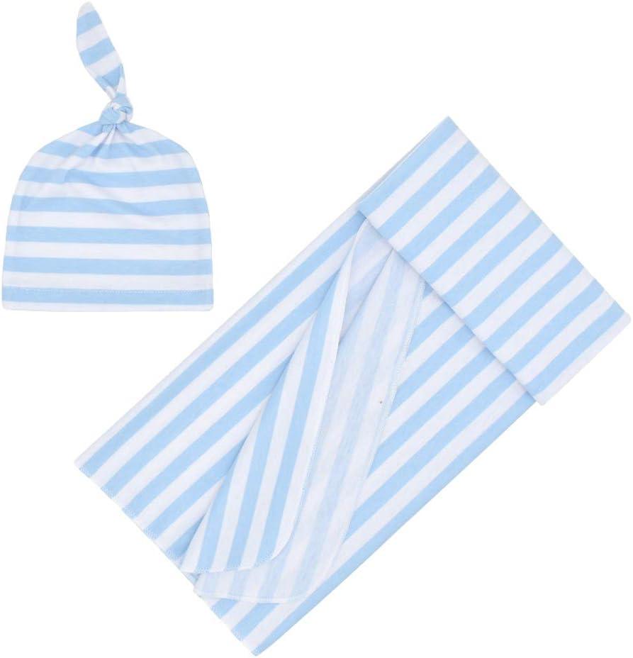 Blau perfeclan Pucktuch f/ür Neugeborene Baby Baumwolle Puckdecke Spuckdecke Babydecke mit Hut