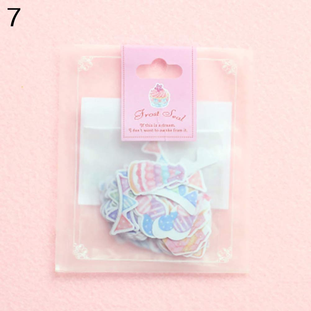 xxiaoTHAWxe Sticker, 70 Pcs Mini Paper Sticker Tag DIY Diary Decoration Sticker Album Scrapbooking #07