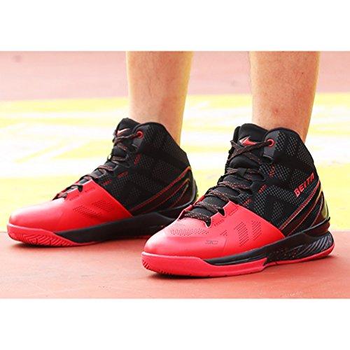Ball Course Sport Chaussure Homme de Running Combat Chaussure Trial Waterproof Sneakers Basket Rouge Noir athlétique de Confortable qw00RzI