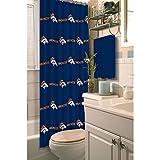 NFL Denver Broncos Decorative Shower Curtain