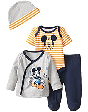 Disney Baby Boys' Mickey Mouse 4 Piece Pant Set