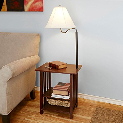 End tables with built in lamps solve space problems the easy way better homes and gardens end table floor lamp mozeypictures Gallery