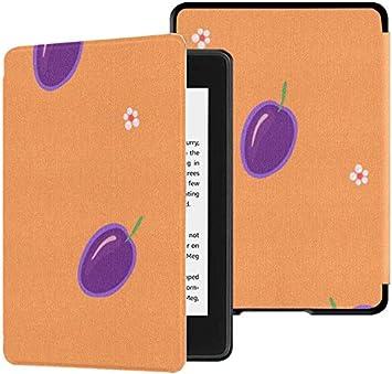 Estuche para Kindle Paperwhite 10th Generation 2018 Dibujos Animados Cute Sour Sweet Snacks Plum Cover Kindle Paperwhite 2018 Estuche con Auto Wake/Sleep: Amazon.es: Electrónica