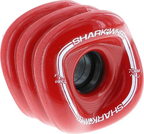 Shark Wheel Longboard Wheels 70mm, 78a - Rojo