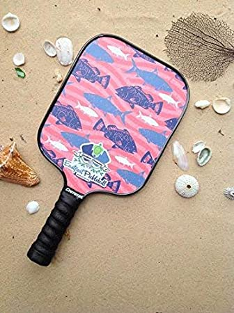 Eastport Pickleball Paddle, USAPA Approved, Blue Fish in Coral Sea - Pickleballs Poshest Paddle
