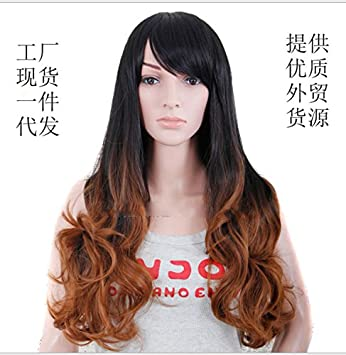 Amazon Com Ms Long Curly Hair Wig Custom Trade European And American Fashion Wig High Temperature Wire A Generation Of Fat Speed Sell Flak Sources