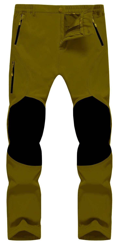 Singbring Men's Outdoor Windproof Hiking Pants Waterproof Ski Pants X-Large Tan(05F) by Singbring