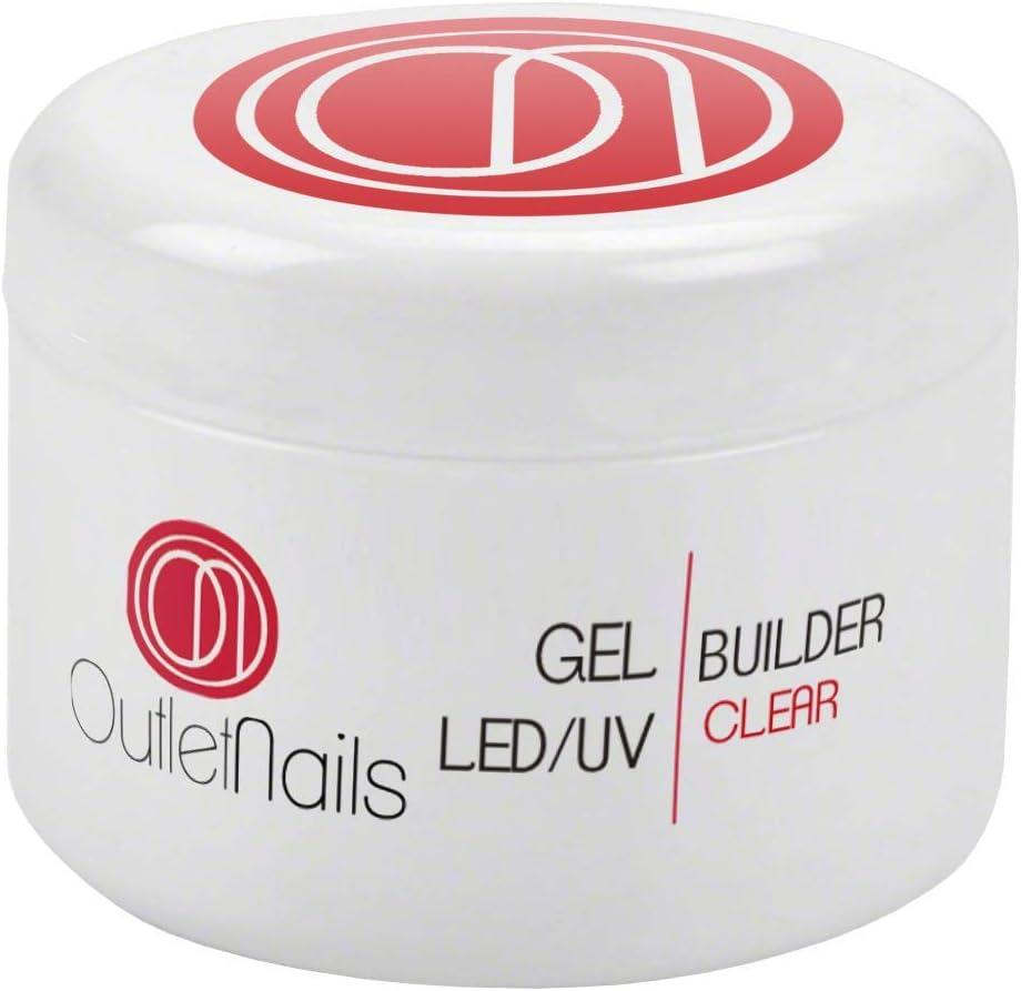 UV Gel Builder Clear 30ml para uñas de gel - UV/LED Constructor Transparente de Outlet Nails
