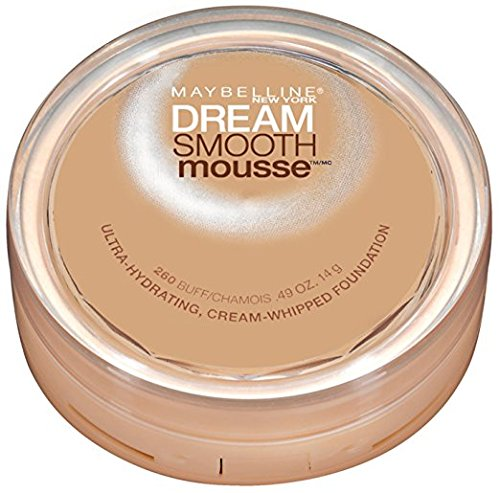 (Pack 2) Maybelline New York Dream Smooth Mousse Foundation, Buff, 0.49 Ounce