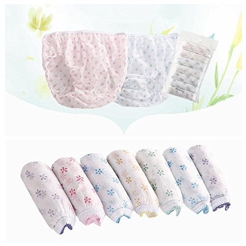 Women Disposable Underwear Travelling Postpartum Panties Non-woven Underpants 4 Sizes 7 PCS/Set (XL) by Zerone (Image #5)