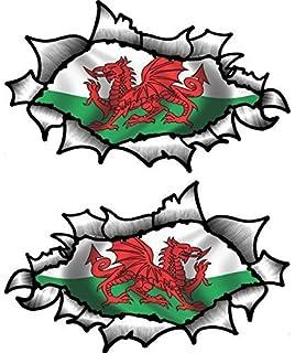 Sticarit Ltd RIPPED TORN METAL Vinyl Car Sticker Evil Eye Monster - Car sticker designripped torn metal design with evil eye monster motif external