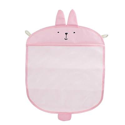 Bath Toy Organizer Cute Bathroom Toy Storage Net Bag Multifunction Bathroom Hanging Bag for Baby Toys (Pink) : Baby