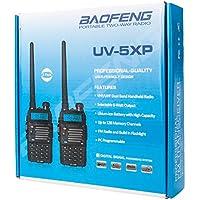 Z ZTDM 4 Pack UV-5R Upgrade Version UV-5XP Extended Battery VHF UHF Two Way Radio 7.4v 8W Dual-band Walkie Talkie