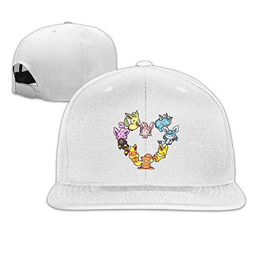 SAXON13 Unisex Hip Hop Baseball-Caps Meshback Eevee Family Heart Cap Hats (Lucario Costume For Sale)