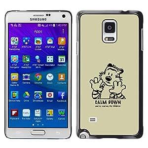 EJOY---Cubierta de la caja de protección la piel dura para el / Samsung Galaxy Note 4 / --Cálmate