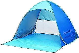 Icorer automatique Pop Up Instant Portable extérieur rapide Cabana Beach Tente Abri Soleil bleu lalune01