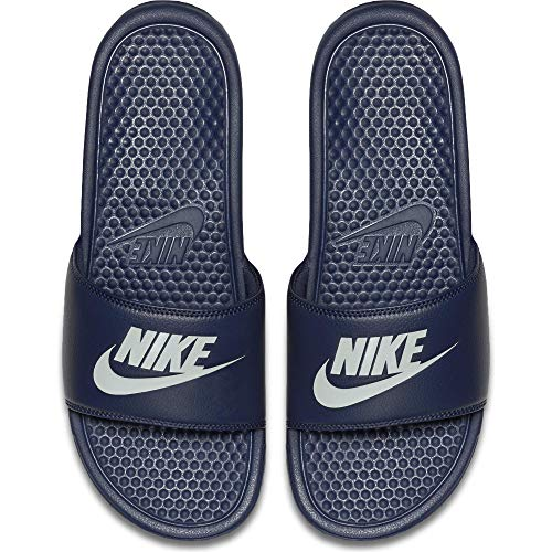 Nike Men's Benassi Just Do It Athletic Sandal, Midnight Navy, 16 D(M) US