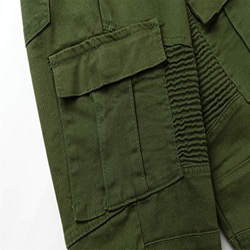 Jeans Poche Plier Hommes Pour Armée Couleur Unie Skinny Droit Verte Pantalon Pantalons Coupe Travail De Slim w07xqwY