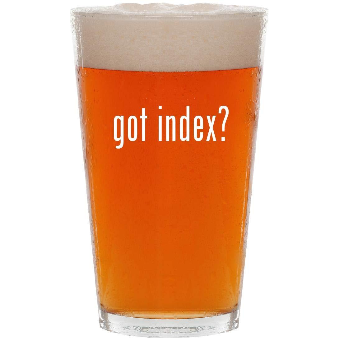 got index? - 16oz Pint Beer Glass