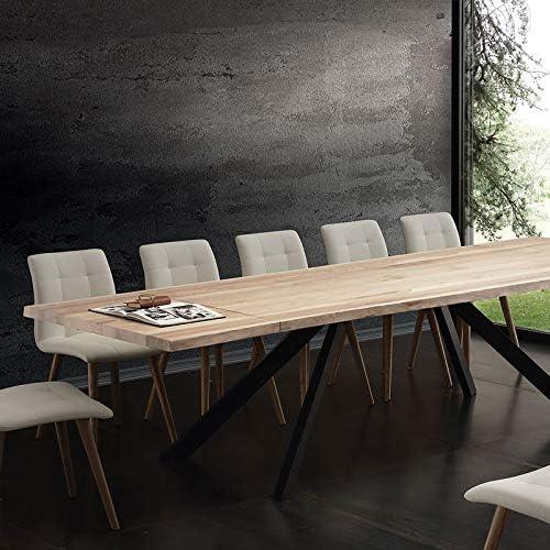 M-029 - Mesa de comedor extensible de madera maciza Ilona: Amazon ...