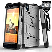 Zizo Carrying Case for HTC Desire 626/626s - Retail Packaging - Gray/Black