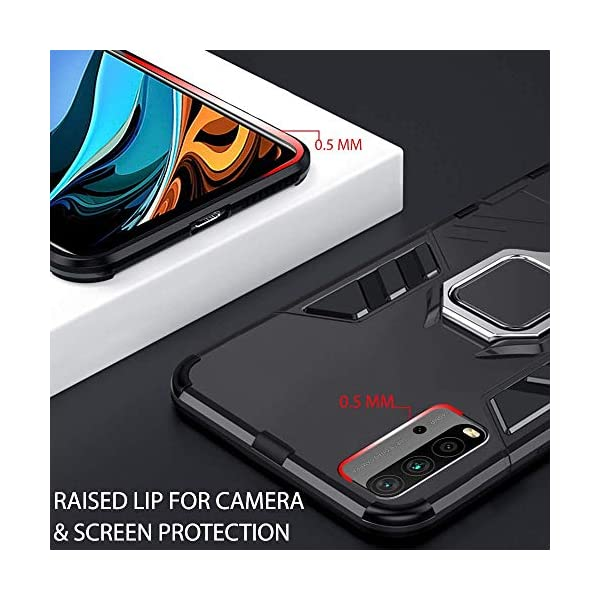 Fancyart Back Cover for Mi Redmi 9 Power | D5 Stand Case Defender Armor Kickstand with Megnetic Ring Holder Heavy Duty… 2021 July ???? Designed For Mi Redmi 9 Power ???? 360 Degree Rotatory Ring Stand. A innovative kickstand provides ultimate flexibility and convenience, to support the mobile phone to watch videos and watch movies. ???? ???? Full access to all functions; Two-part construction of shock-absorbing soft TPU and durable hard polycarbonate