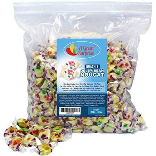 Brach's Jelly Nougats, 3 LB Bulk Candy