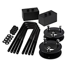 """Heavy Metal Suspensions - 2004 - 2018 Ford F150 (4WD) 2"""" Front Strut Spacers + 1.5"""" Rear Lift Blocks + Extended Plated U Bolts High Strength Carbon Steel Lift Kit"""