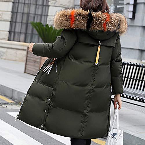 Manteau Vert Longue Chaud En À Vêtements Capuche Zzzz Fausse Épaisse Hiver Chaude Blouson Femme Veste Fourrure Automne Femmes fpdTAx